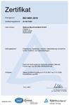 TÜV ISO Zertifikat